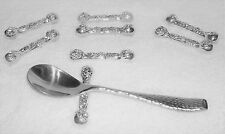 RETIRING EBAY! BEAUTIFUL NEW SET OF 12!! SILVER KNIFE OR SPOON RESTS WITH MOTIF