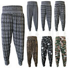 Womens Ali Baba Hareem Harem Pants Ladies Printed Baggy Cuffed Trouser Leggings