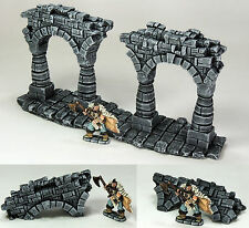 FROSTGRAVE (suited) - 'RUINED & FALLEN ARCHES' - PRE PAINTED - FANTASY TERRAIN