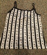 LIP SERVICE Step In Time Steam Punk Key Blouse Cami Tank Vintage Lace M