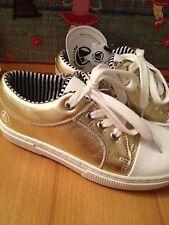 Petit Bateau Sneaker Turnschuhe Mädchen halbschuhe Luxus schuhe gold Gr. 29 NEU