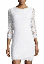 NWT Diane Von Furstenberg Colleen  White  Lace  Sheath Dress  in  Size 6