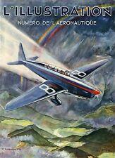 """""""NUMERO DE L'AERONAUTIQUE"""" Couverture orig. entoil. ILLUSTRATION 1934 (Géo HAM)"""