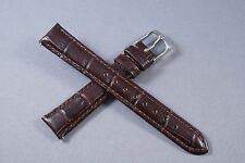 19mm Brown 100% Genuine Leather Watch Band,Strap, Interchangeable, Quick Release