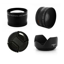 Wide Angle and Telephoto Lens Kit 58mm for Olympus E400 E410 E420 E450 E510