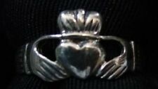 LOOK Buffy The Vampire Slayer Silver CLADDAGH RING size 11