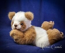 Cute Teddy Bear Panda collector jointed free pose artist toy OOAK by Yumi Camui