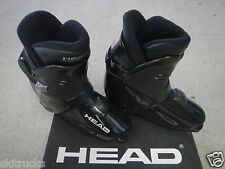 HEAD, REAR ENTRY,  RR8,  BLACK / SILVER DOWN HILL SKI BOOTS, size 27.5