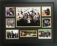 THE WALKING DEAD CAST SIGNED LIMITED EDITION FRAMED MEMORABILIA