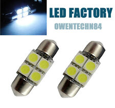2X DE3021 DE3022 DE3175 31MM 4-SMD White LED Festoon Dome Car Lights Bulb #O2SJB
