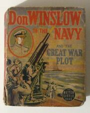 Vintage 1940 DON WINSLOW of the NAVY The GREAT WAR PLOT Better Little Book #1489