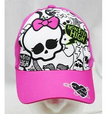 NWT Monster High Baseball Cap Pink & Pink-  Child Size Licensed by Mattel
