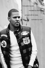 J Cole 24x36 BRAND NEW poster Cole World Born Sinner Roc Nation BEST RAPPER EVER