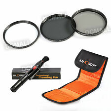 52mm UV CPL ND4 Neutral Density Lens Filter Kit Pen For Nikon D3200 D5100 D7000