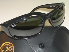 RAY BAN RB4033 STUNNING BLACK G15 UV GLASS LENS PREDATOR WRAPS SUNGLASSES NrMINT