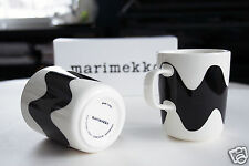 Marimekko for Finnair Lokki mugs 2-set of 25 cl black, in an original box