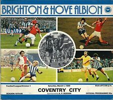 Brighton & Hove Albion V Coventry City 1979-80