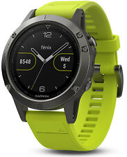New Garmin Fenix 5 Premium Multisport GPS Fitness Watch w/ Wrist HR Monitor 47mm