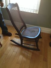 antique rattan rocking chair