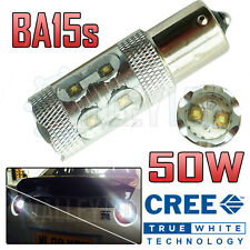 1 x 50w Cree Super Bright White LED Reverse Light Bulb BA15s 382
