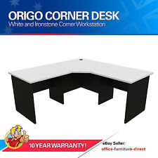 Home Office Desk, Corner Workstation Computer Study Desks Office Furniture White