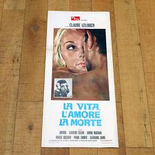 LA VITA, L'AMORE, LA MORTE locandina poster La Vie, L'Amour, La Mort. Lelouch