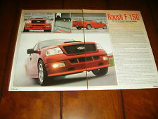 2005 FORD ROUSH F-150  - MUSCLE TRUCK  ***ORIGINAL 2005 ARTICLE***