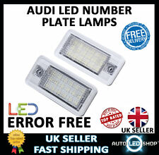 UPGRADE WHITE LED NUMBER LICENSE PLATE LIGHT UNITS LAMPS AUDI A4 B7 05-07 CANBUS
