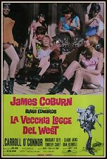 fotobusta LA VECCHIA LEGGE DEL WEST  JAMES COBURN BLAKE EDWARDS