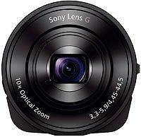 Sony DSC-QX10/B Smartphone Attachable 4.45-44.5mm Lens-Style Camera, -OPEN BOX