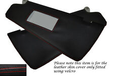 RED STITCHING FITS FIAT BRAVO BRAVA 95-01 2X SUN VISORS LEATHER SKIN COVERS ONLY