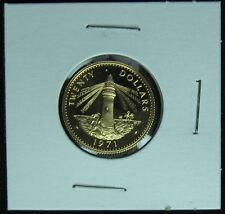 1971 Bahamas 10 and 20 Dollars Proof Gold Coins Full and Half Sovereign Specs