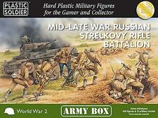 MID-LATE WAR RUSSIAN STRELKOVY RIFLE BATTALION - PLASTIC SOLDIER COMPANY - 15MM