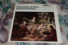 Piano Music Of Bach~Wilhelm Backhaus~London FFRR STS 15065~FAST SHIPPING