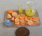 1:12 Making Orange Juice On A Board Dolls House Miniature Delicatessen Food