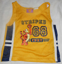 "Disney Tigger Basketball Mesh Team Jersey ""Striped Fury 68"" - Size 24 Months"