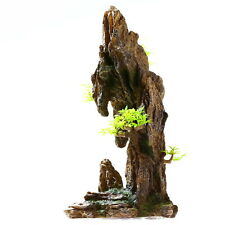 "Mountain View 13.8"" H Aquarium Ornament Decoration - fish tank tree Cave Resin"