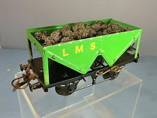 """VINTAGE HORNBY """"0"""" MODEL No1  LMS HOPPER WAGON  WITH MINERAL LOAD"""