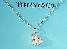 Tiffany & Co Sterling Silver Etoile Heart Charm with Diamond 18 Inch Necklace