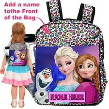 Personalised Frozen Animal Print Backpack Nursery Rucksack School Bag FR01