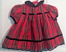 Baby Girls Good Lad Red Plaid Holiday dress Size 6-9 M   #680