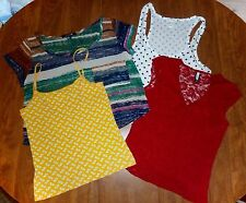 4 JR/MISSES S TOPS - FOREVER 21 & OLD NAVY - RED LACE, POLKA-DOT, CHIFFON & CAMI
