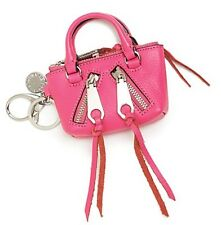 NWT $65 Rebecca Minkoff Moto Satchel Key Fob Leather Bag Charm Coin Purse!