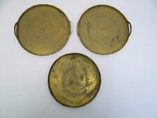 China Brass Metal Plant Stands Trays Platters Used Floral Design Old