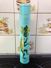 Fortnum & Mason Tall Elegant Eau de Nil & Gold Monkey Decorated Biscuit Tin Used