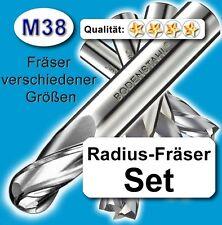 Rundfräser-Satz D=8+10+12+16mm Schaftfräser für Metall Holz hochleg. Qualität