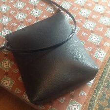 John Lewis Soft Blue Pebble Leather Spaghetti Strap Cross Body Messenger Bag