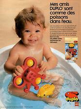 Publicité 1990  DUPLO LEGO jouets enfants bébé