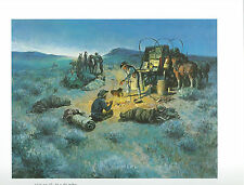 "Charlie Dye,  ""Sun Up""- Cowboy-Chuck Wagon, Camp Fire---Western Art Print"