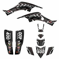 Honda TRX 400EX Graphics kit for 1999 - 2007 Black Plastics #2600-Red Pinstripe